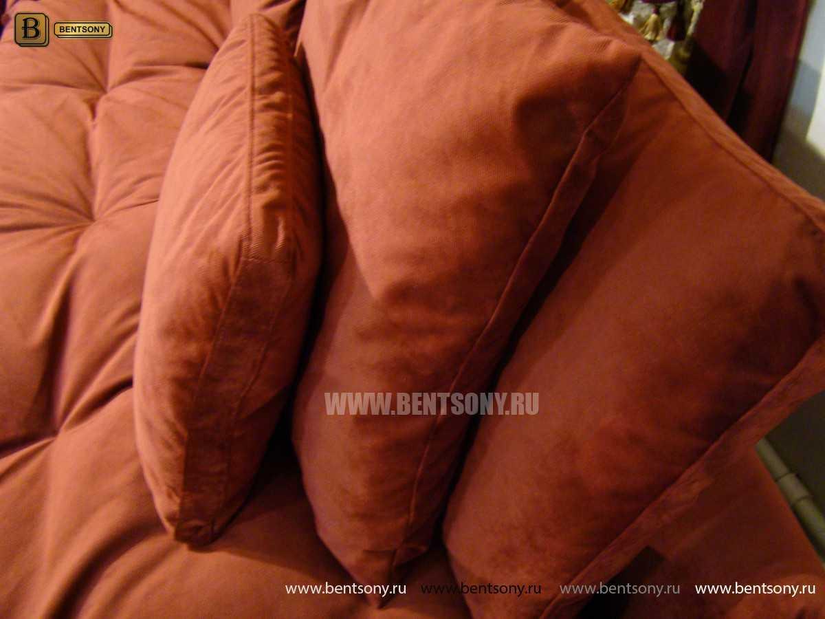 мягкий красный диван Арлетто