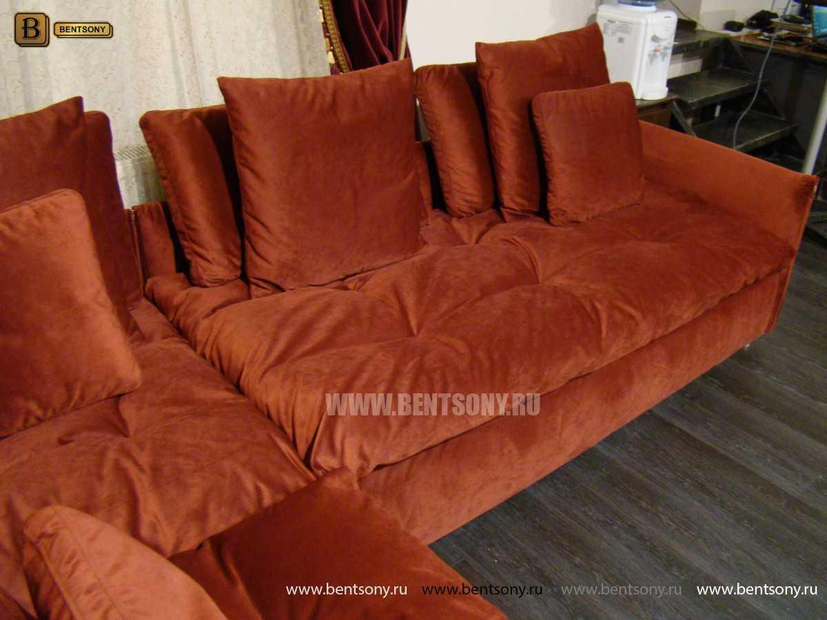 стильный красный диван Арлетто