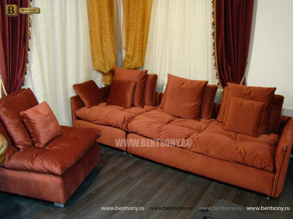 красный диван с подушками Арлетто