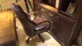 Кресло Крофорд (Вращается, натуральная кожа) для дома