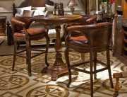 Барный стул (кресло) Монтана А (Натуральная кожа, массив дерева) сайт цены