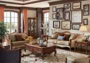 Гостиная Лоренс B классическая (Ткань) для квартиры