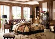 Спальня Крофорд D (Массив дерева, натуральная кожа)