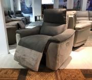 Кресло Либеро с реклайнером (Натуральная Кожа, Алькантара)