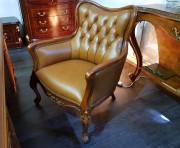 Кресло Флетчер малое (Классика, натуральная кожа) в Москве