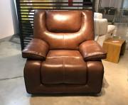 Кресло Прецо в коричневой обивке (Механизм качания, Натуральная Кожа) изображение