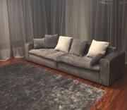 Диван Бениамино двойной, серый (Прямой) магазин