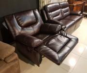 Кресло Прецо темно коричневое (Механизм качания, Натуральная Кожа) купить в СПб