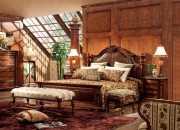 Кровать Монтана B (Классика, массив дерева, кожа)