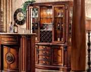 Барный шкаф 3-х дверный Монтана (Классика, массив дерева)