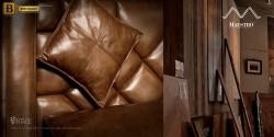 восококлассная кожа в обивке диванов Бенцони