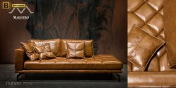 стильный кожаный прямой диван москва