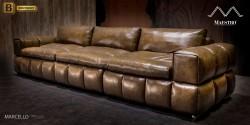 прямой диван из натуральной кожи Марчелло купить