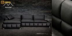 модульный угловой диван Марчелло черный