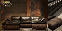 п-образный диван Марчелло натуральная кожа алькантара