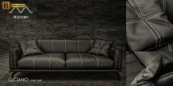 элитный диван прямой черный