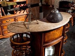 мраморная столешница классической барной стойки Феникс