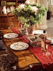Классический обеденный стол Феникс массив дерева
