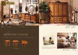 Классическая мебель Феникс массив дерева цвет орех в интерьере