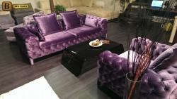 стильная кушетка Скиллачи фиолетовый велюр