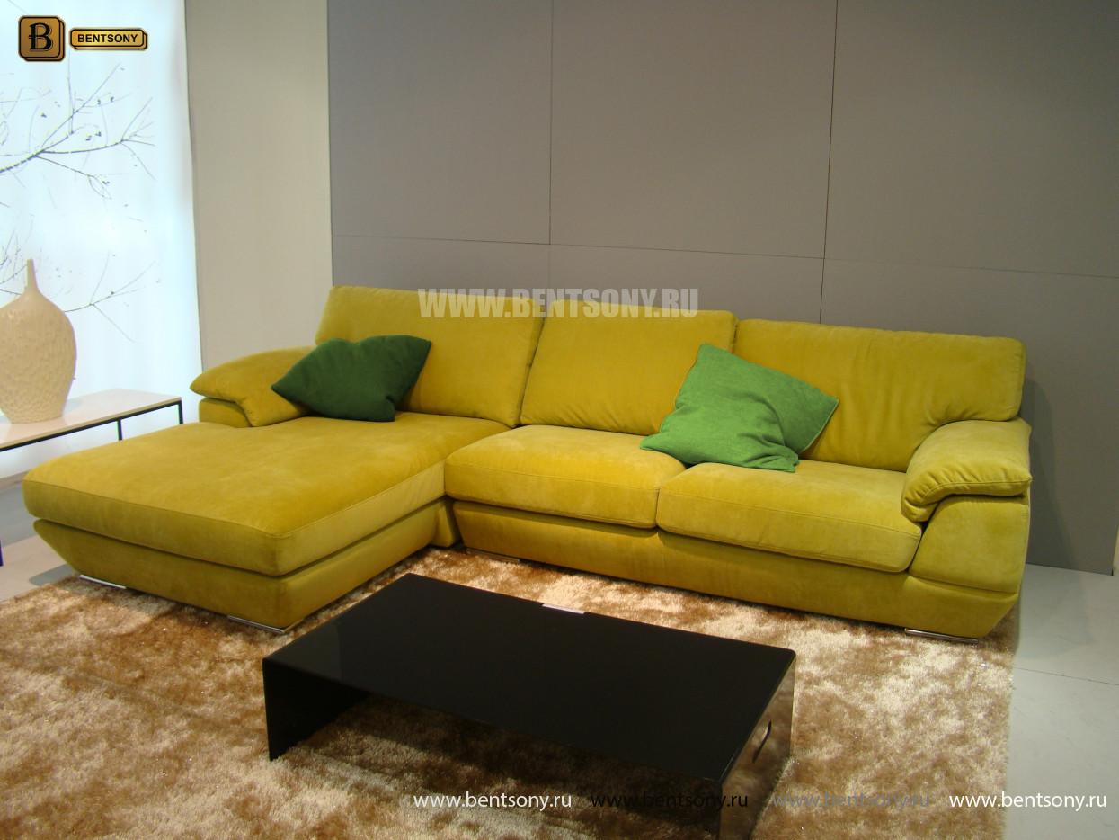 диван тканевый с цветными подушками купить