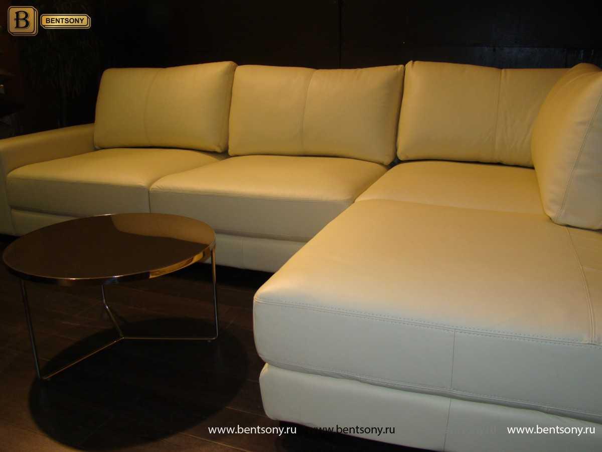 Диван Ломбардо (Угловой, С Пуфом) каталог мебели с ценами