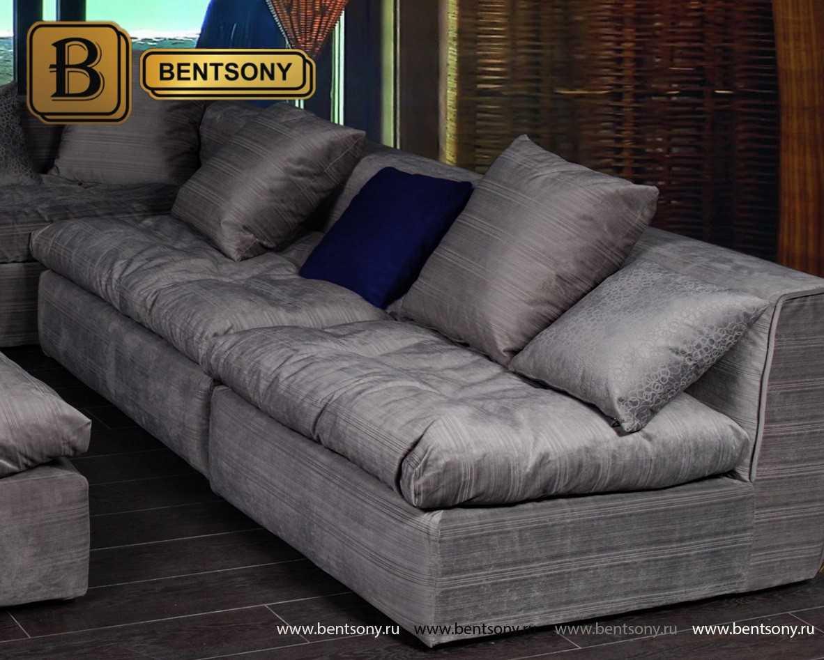 Серый угловой диван Бениамино