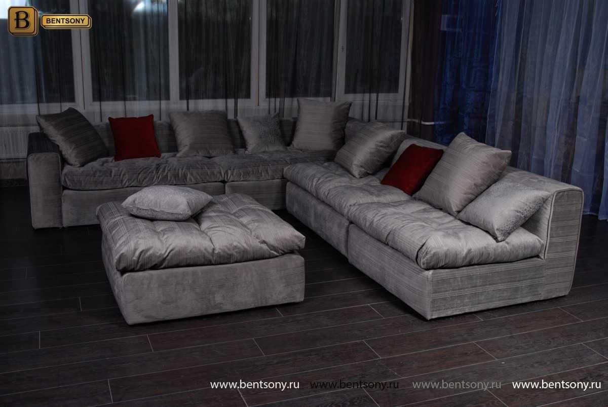 Серый диван Бениамино в интерьере