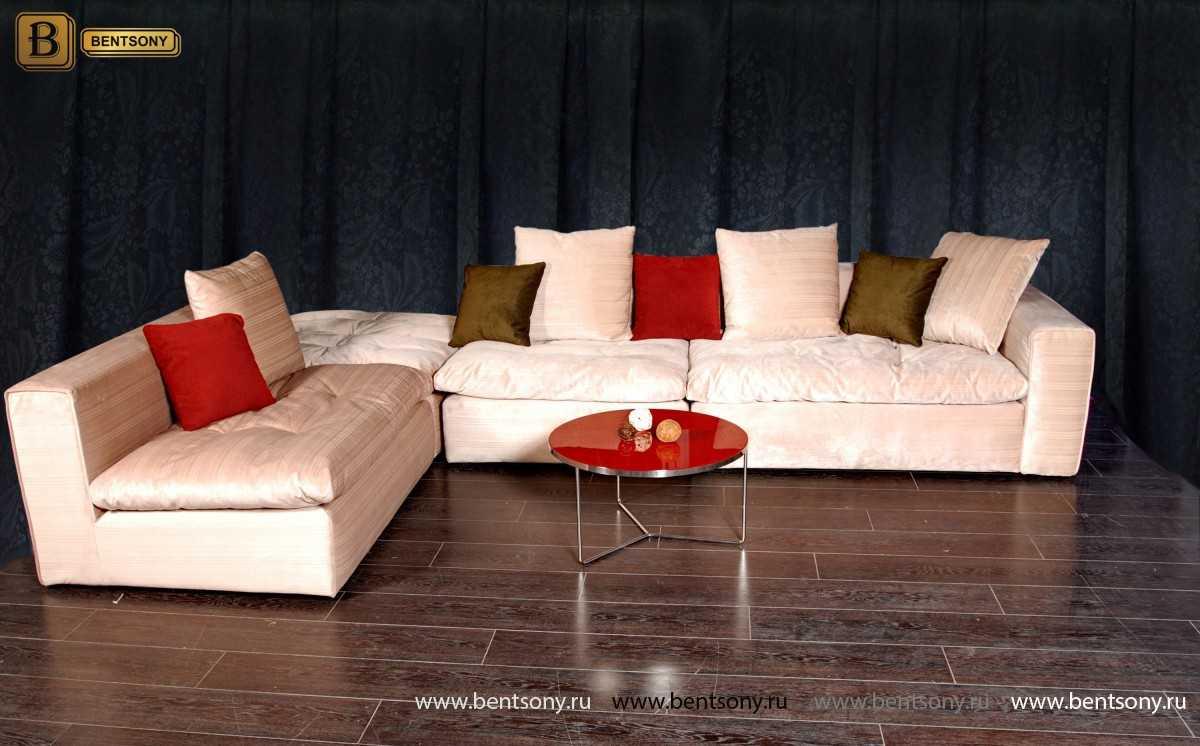 Уютный модульный диван Бениамино подушки