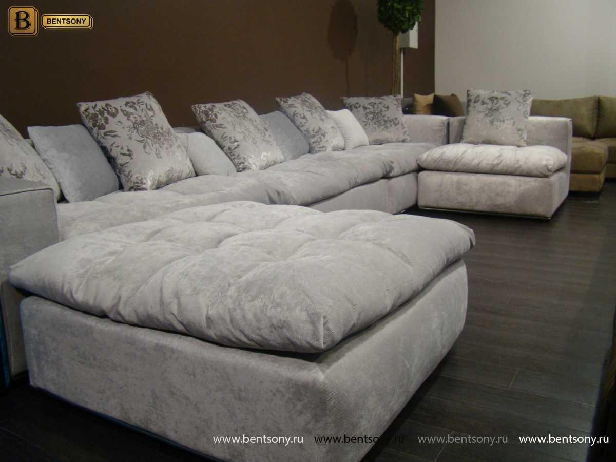 Серый диван Бениамино