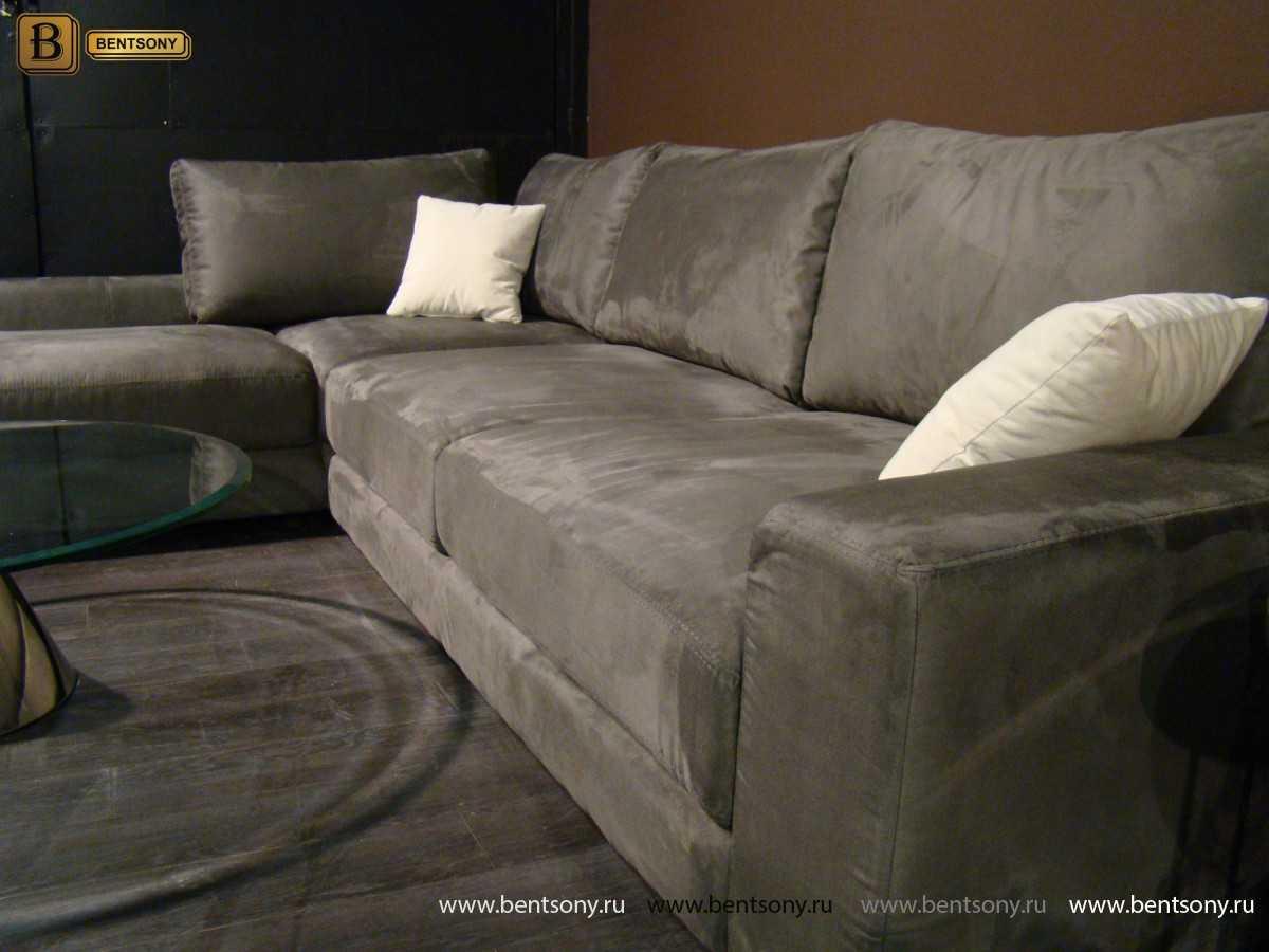 Модульный диван Луиджи с шезлонгом для гостинной