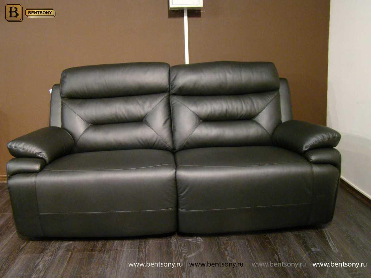 Диван Амелия кожаный мягкий мебель Бенцони