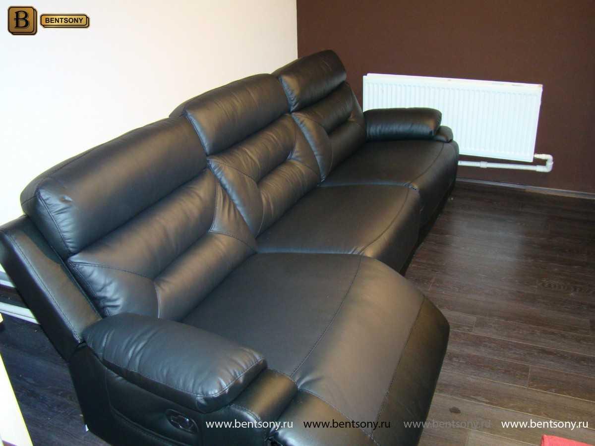 Диван кожаный мягкий мебель Бенцони