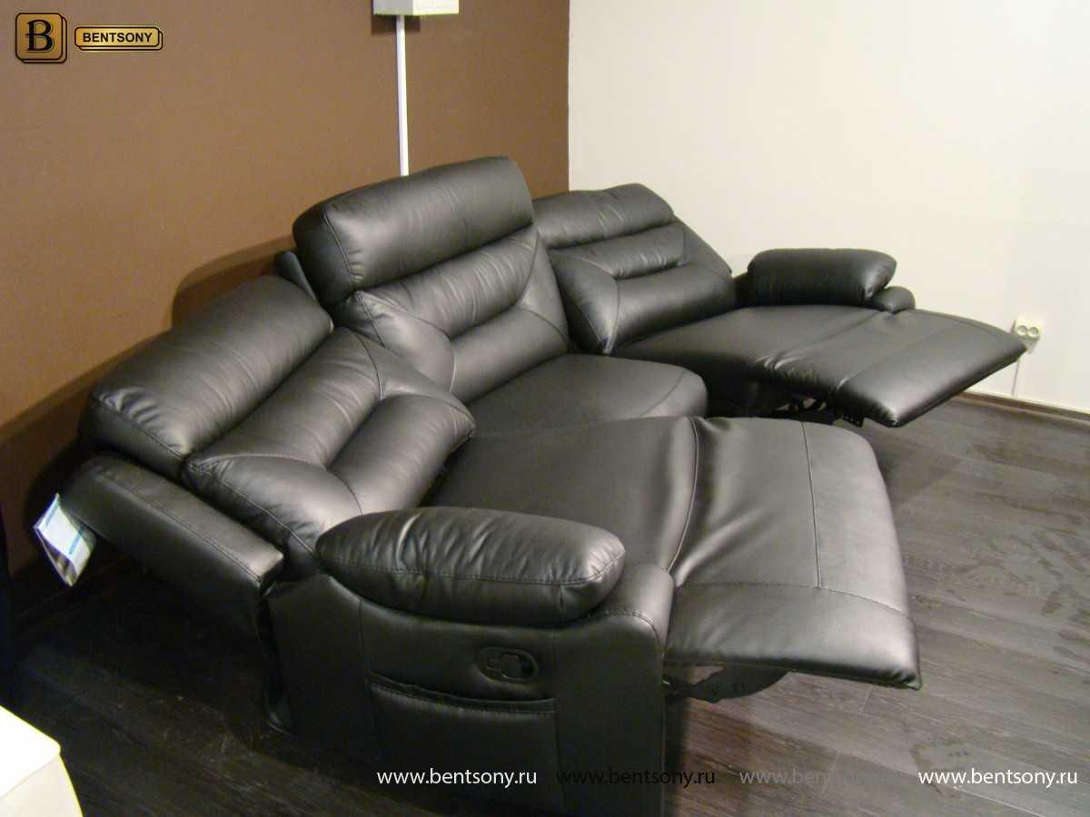 купить кожаный прямой диван Амелия