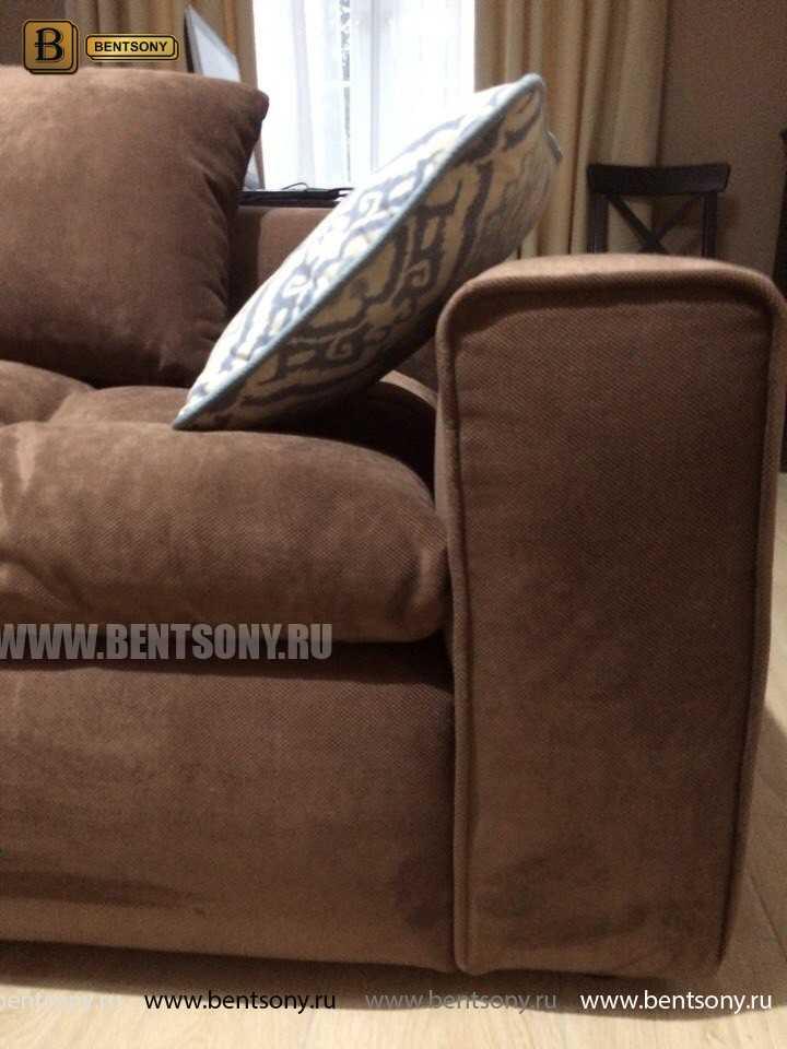 Обивка дивана Бениамино коричневый велюр