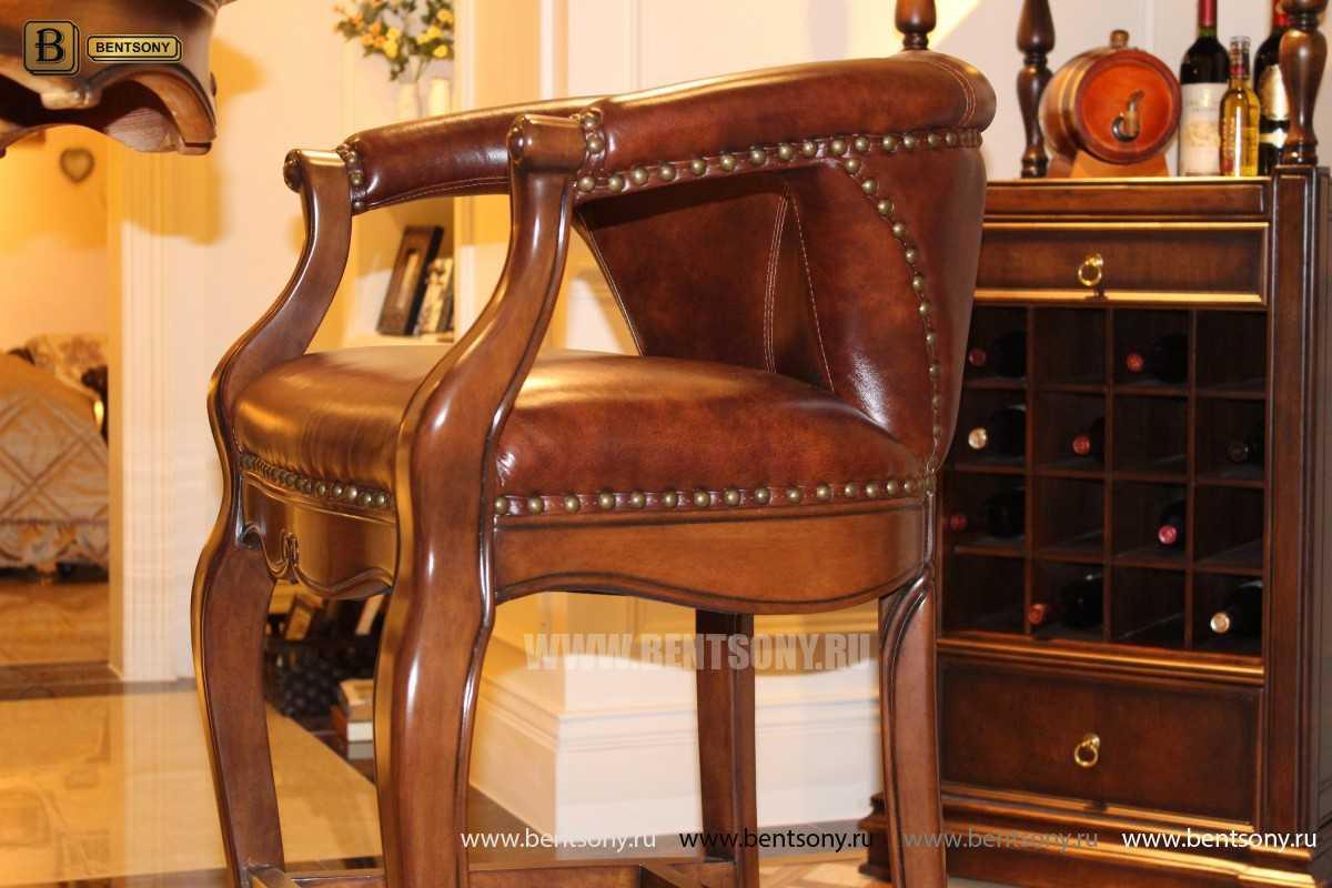 Барное кресло Крофорд D (Натуральная кожа) в интерьере