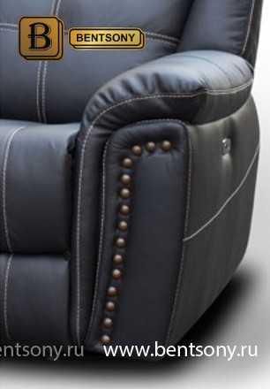 Диван Молинаро 3 (Прямой, Реклайнеры, Натуральная Кожа) каталог мебели