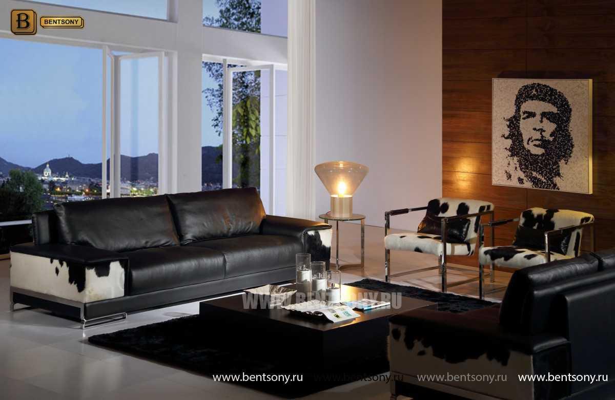 Диван Мигель, Натуральная кожа и Шкура с ворсом  каталог мебели с ценами