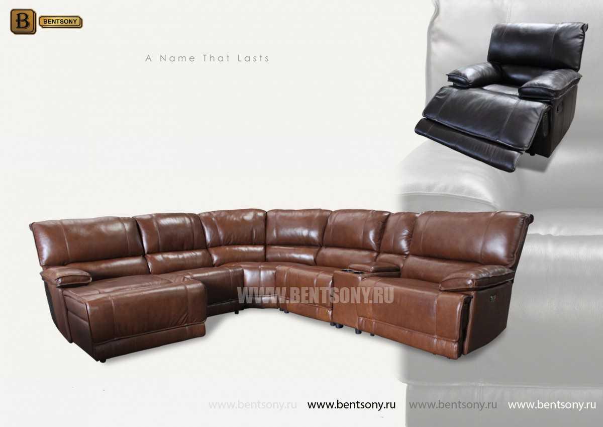 Диван Капонело (Угловой, Натуральная кожа) каталог мебели