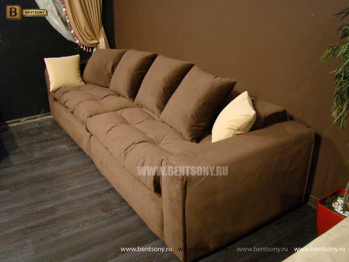 прямой диван Бениамино коричневый