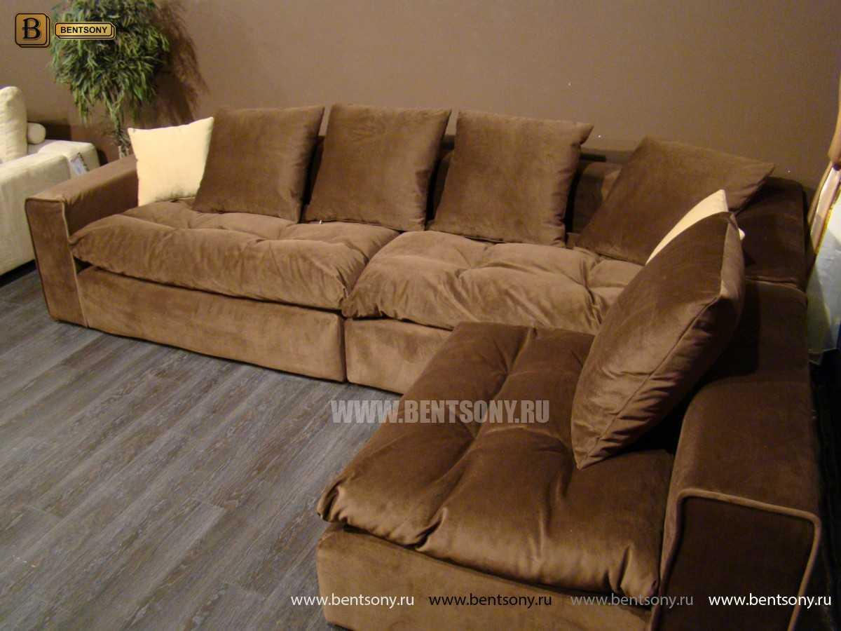 коричневый диван Бениамино угловой купить