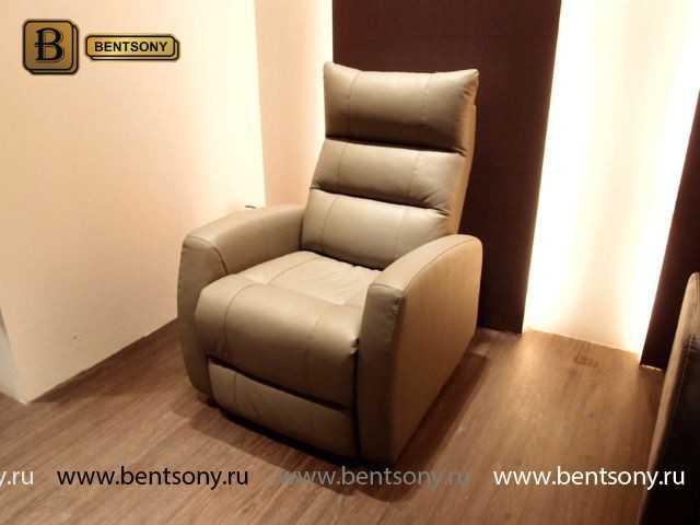 Кресло Лаваль (Реклайнер, Натуральная кожа) для загородного дома