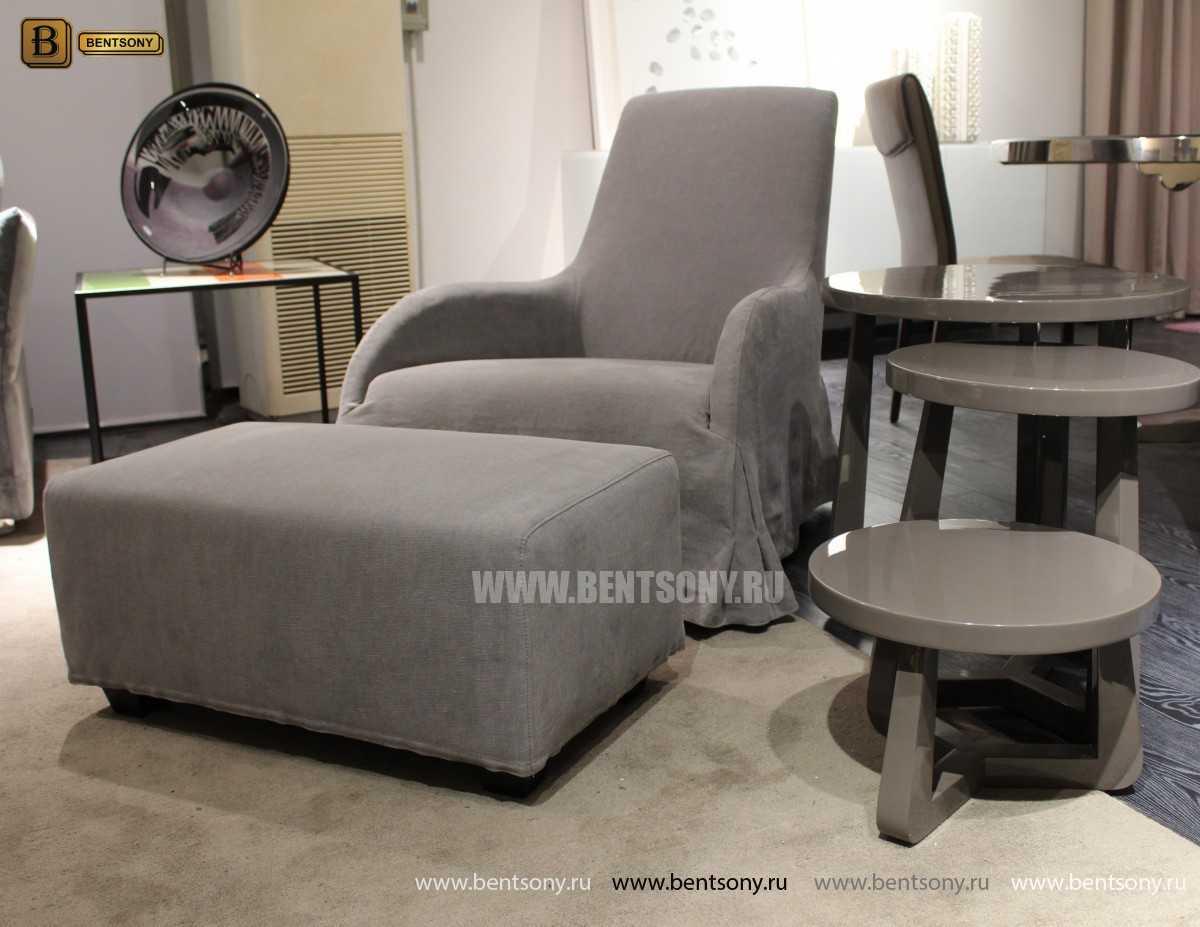 Кресло Саймон (Ткань, Пуф) купить в СПб