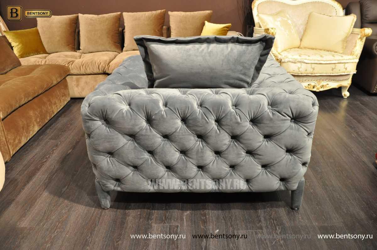 Кресло Скиллачи (Серый, Капитоне) каталог мебели