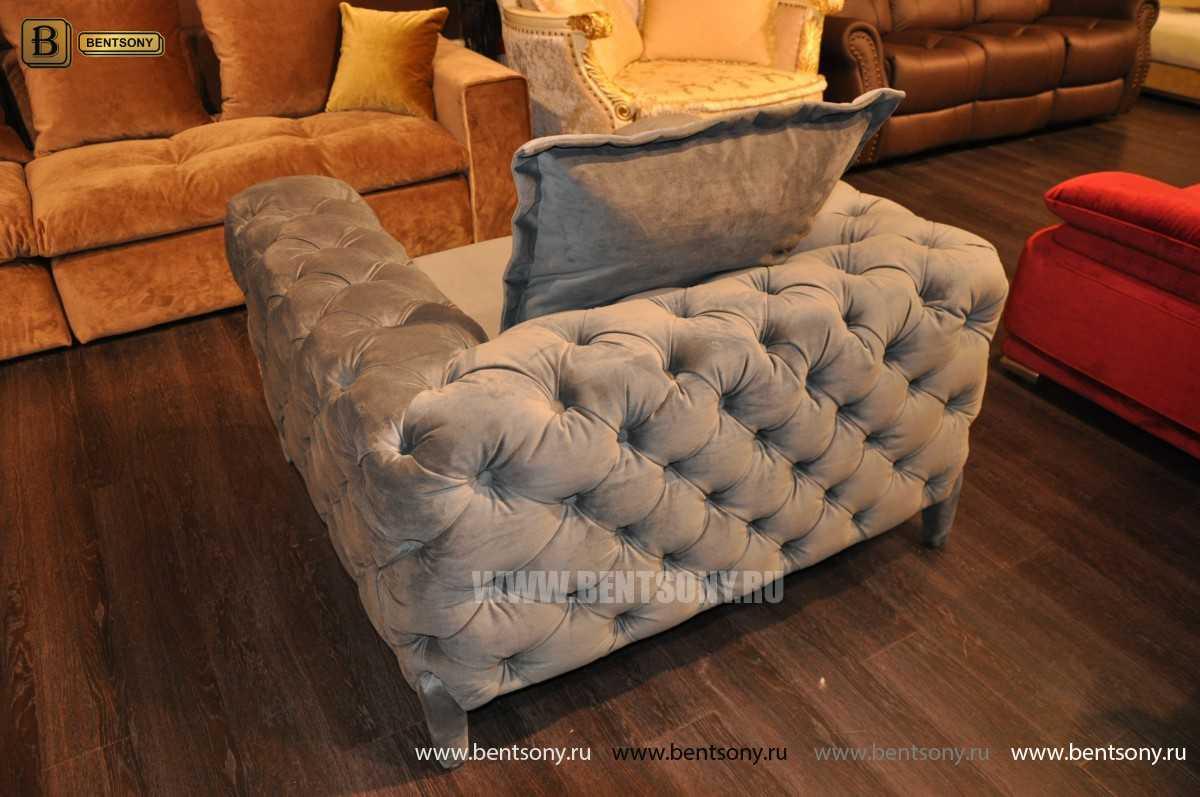 Кресло Скиллачи (Серый, Капитоне) купить в СПб