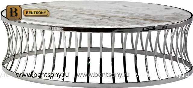 Стол Приставной для гостиной (Круглый, Мраморная столешница) для квартиры