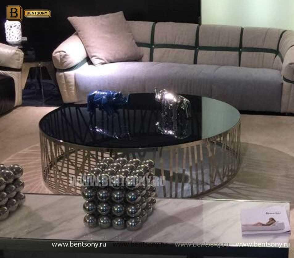Стол Журнальный (Круглый, стеклянная столешница, Тонированное стекло) для дома