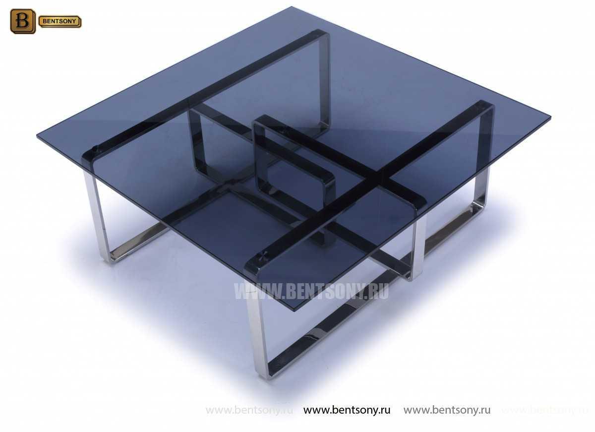 Стол Журнальный (Квадратный, тонированное стекло) изображение