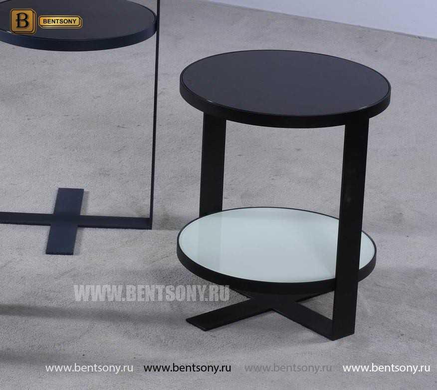 Стол Приставной (Круглый, тонированное стекло) распродажа