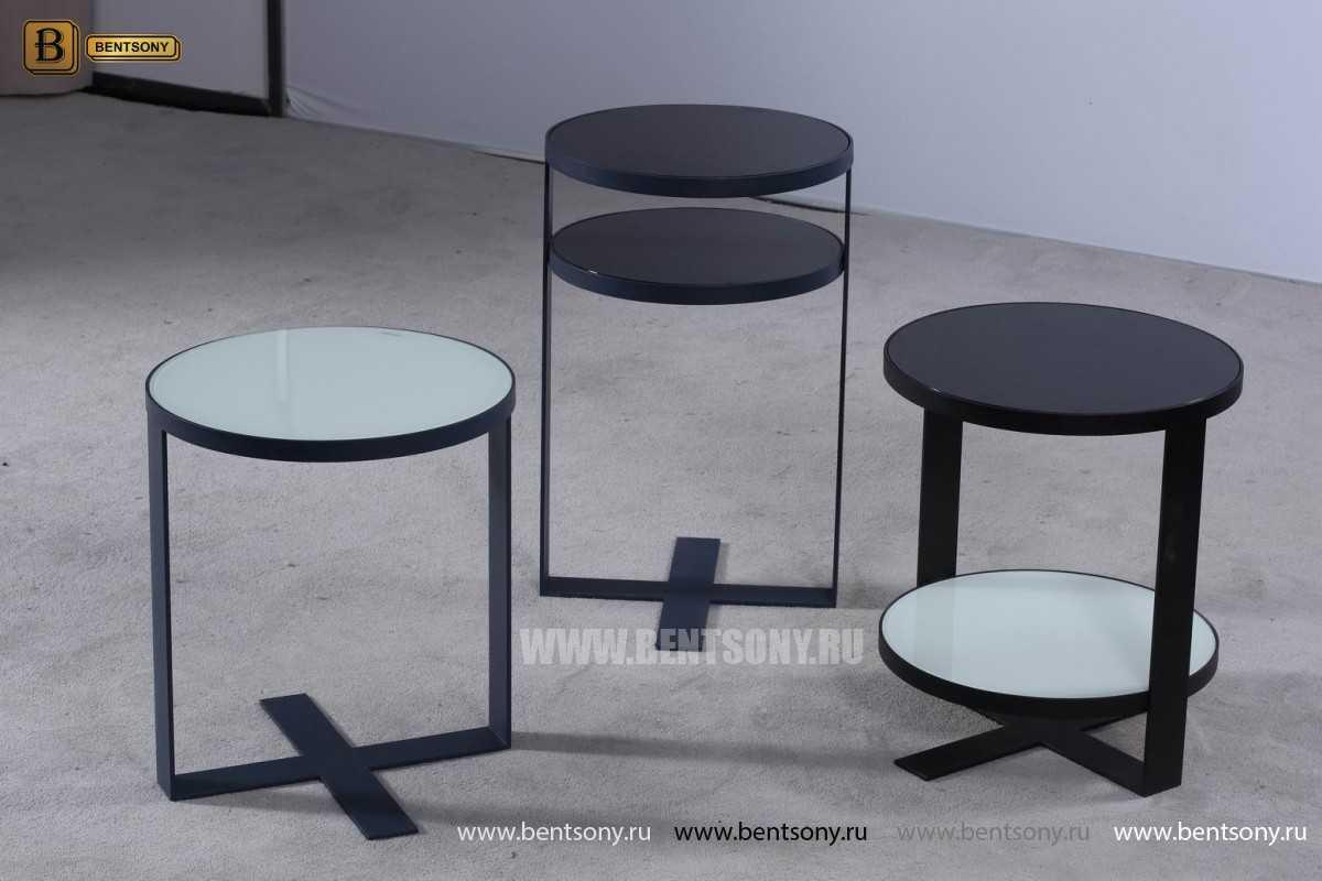 Круглый Приставной Стол (Тонированное стекло) сайт цены
